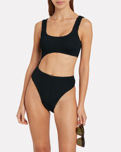 Maya Cut-Out One-Piece Swimsuit, BLACK, hi-res
