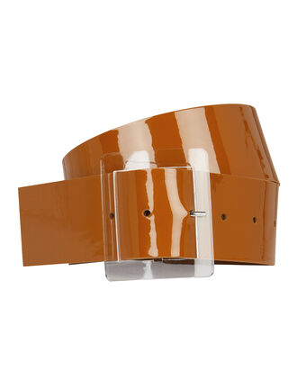Patent Leather Waist Belt, CARAMEL, hi-res