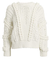 Fresh Lace-Up Sweater, WHITE, hi-res