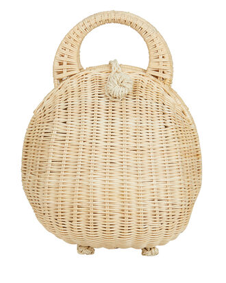 Millie Dome Straw Beige Bag, BEIGE, hi-res