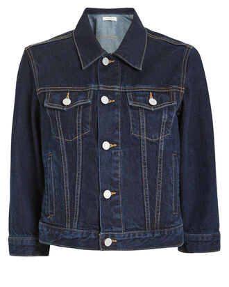 Zoey Crop Denim Jacket, DENIM-DRK, hi-res