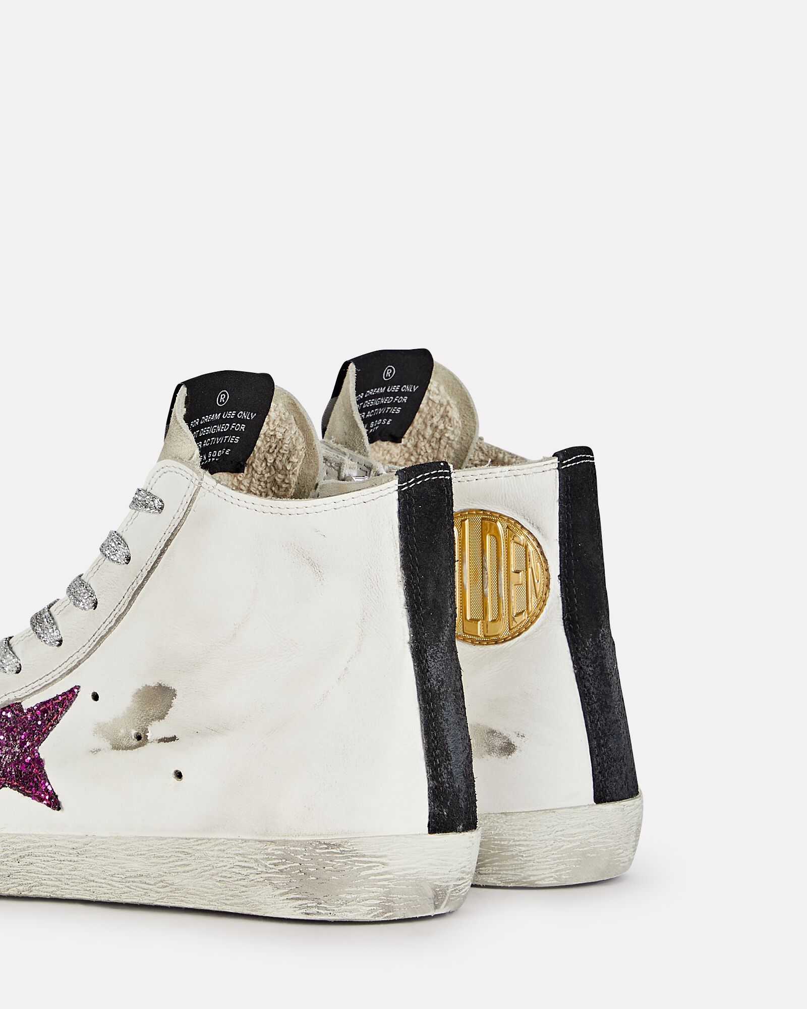 Francy Leather High-Top Sneakers, WHITE, hi-res