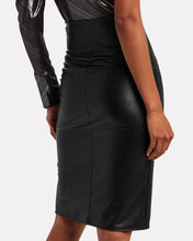 Vegan Leather Pencil Skirt, BLACK, hi-res