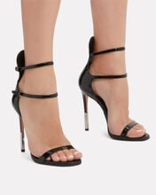 Elvira Double Strap Sandals, BLACK, hi-res