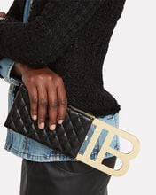 B-Minaudiere Quilted Leather Clutch, BLACK, hi-res