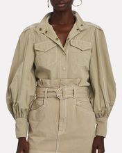 Cotton Utility Shirt, BEIGE, hi-res