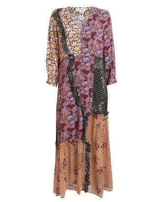 Arlie Patchwork Floral Dress, MAUVE/FLORAL PATCHWORK, hi-res