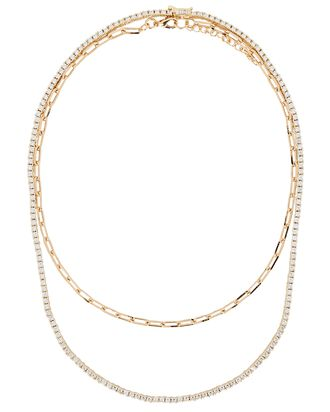 Wren Riviera Layered Chain Necklace, GOLD, hi-res