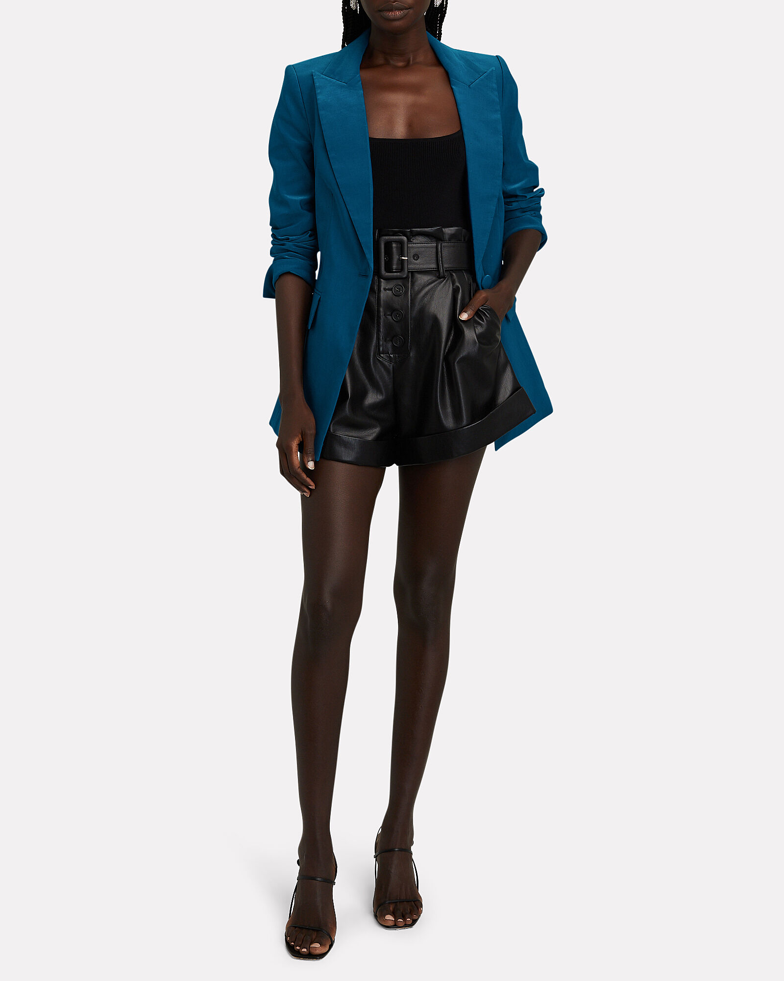 Long And Lean Dickey Blazer, BLUE, hi-res