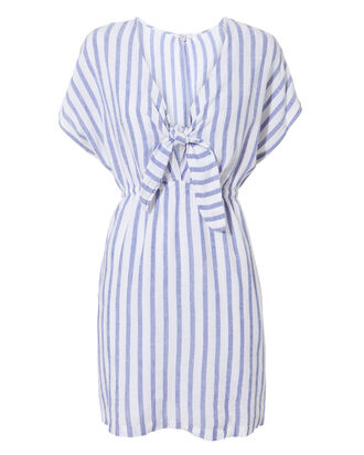 Charlotte Tie-Front Dress, BLUE-LT, hi-res