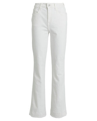 High-Rise Bootcut Jeans, WHITE, hi-res