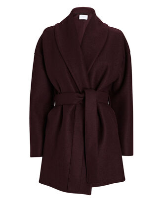 Belted Wool Wrap Coat, PURPLE-DRK, hi-res