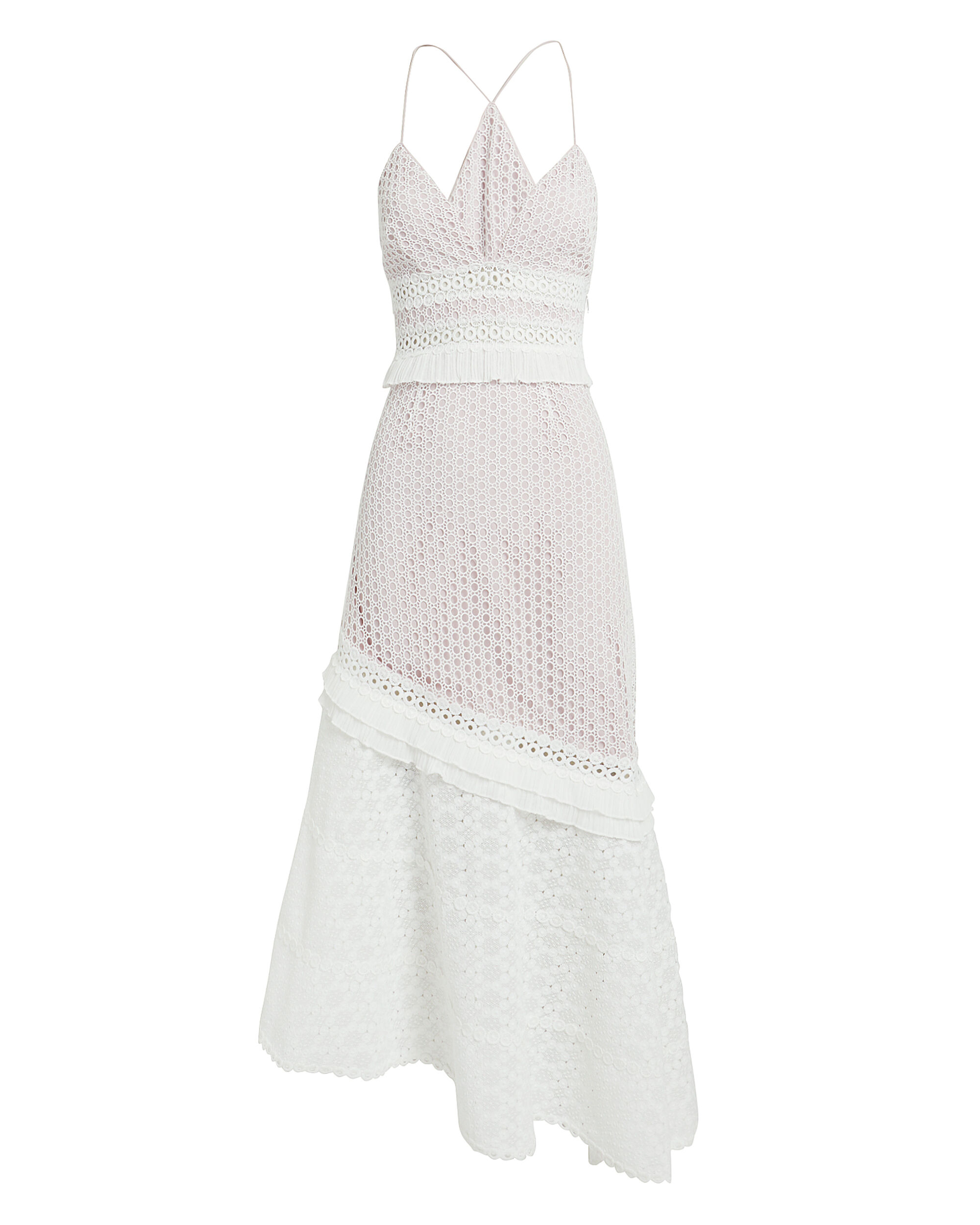 Cole Eyelet Midi Dress, WHITE, hi-res