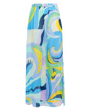 Wide Leg Silk Crepe Pants, MULTI, hi-res