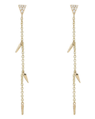 Fringe Gold Drop Earrings, GOLD, hi-res