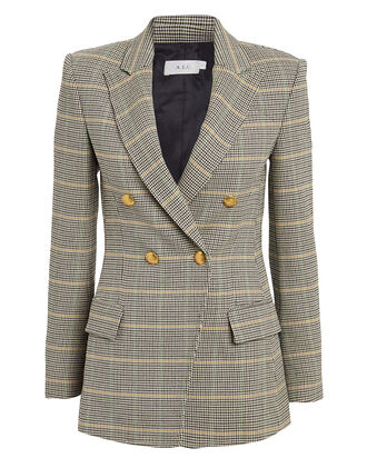 Sedgwick II Double Breasted Blazer, BEIGE/CHECK, hi-res