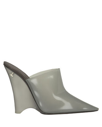 Clear Wedge Pump Mules, CLEAR/GREY, hi-res