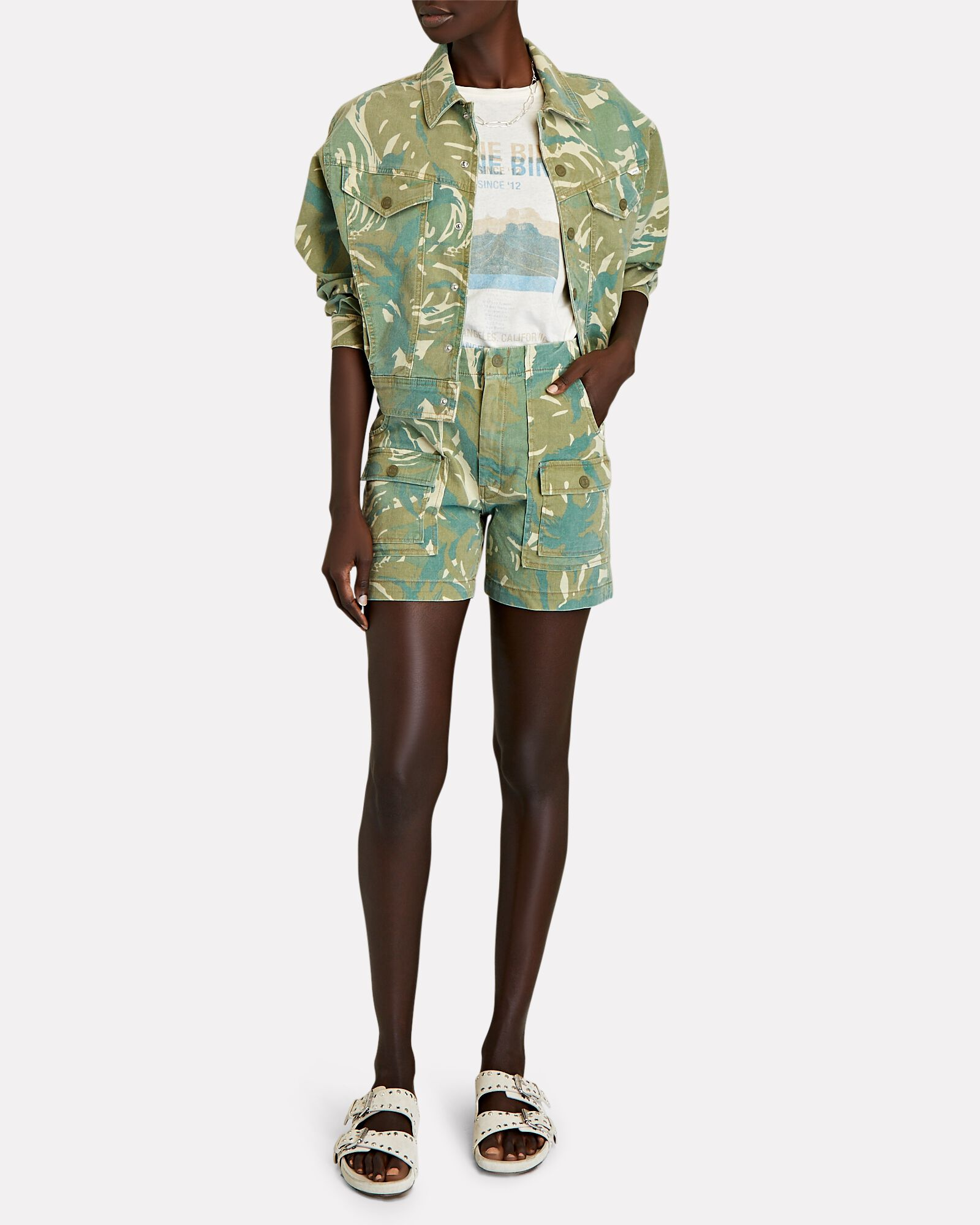 The Fly Away Camouflage Jacket, GREEN, hi-res