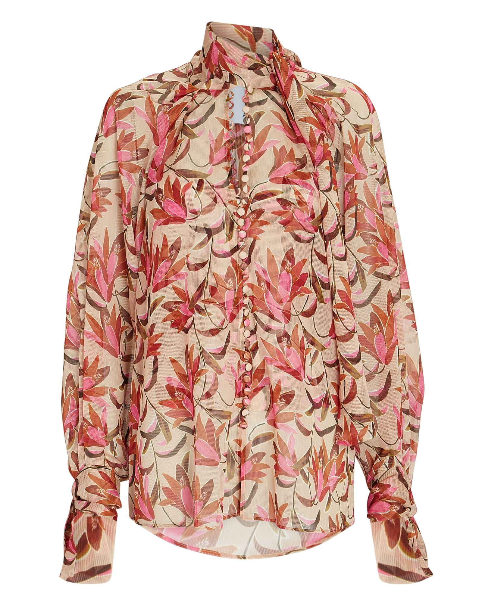 Cathedral Floral Chiffon Blouse, MULTI, hi-res