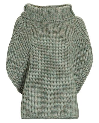 Ivy Cape Sleeve Turtleneck Sweater, OLIVE/ARMY, hi-res