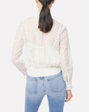 Eyelet Party Top, IVORY, hi-res