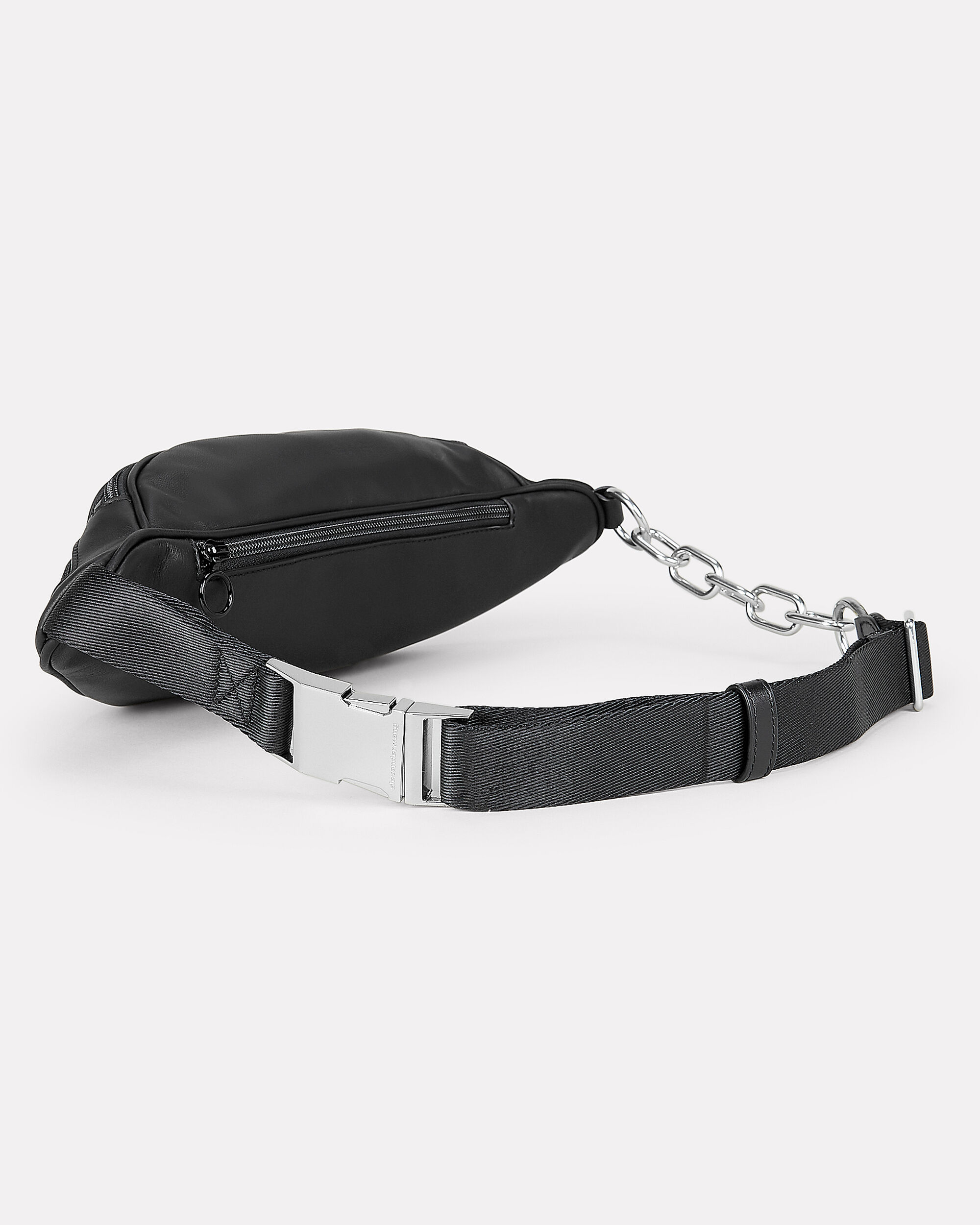 Attica Logo Fanny Pack, BLACK LEATHER, hi-res