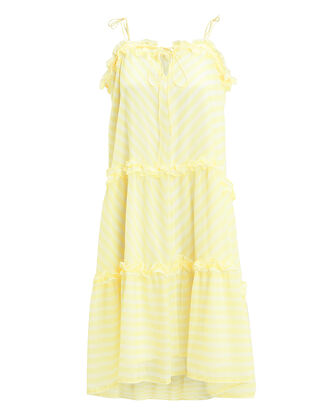 Kennedy Striped Dress, YELLOW/WHITE, hi-res