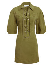 Olive Cargo Mini Dress, OLIVE GREEN, hi-res