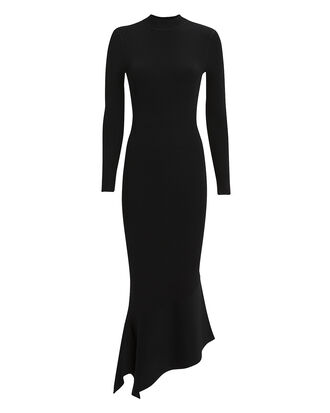 Ghita Ribbed Knit Dress, BLACK, hi-res