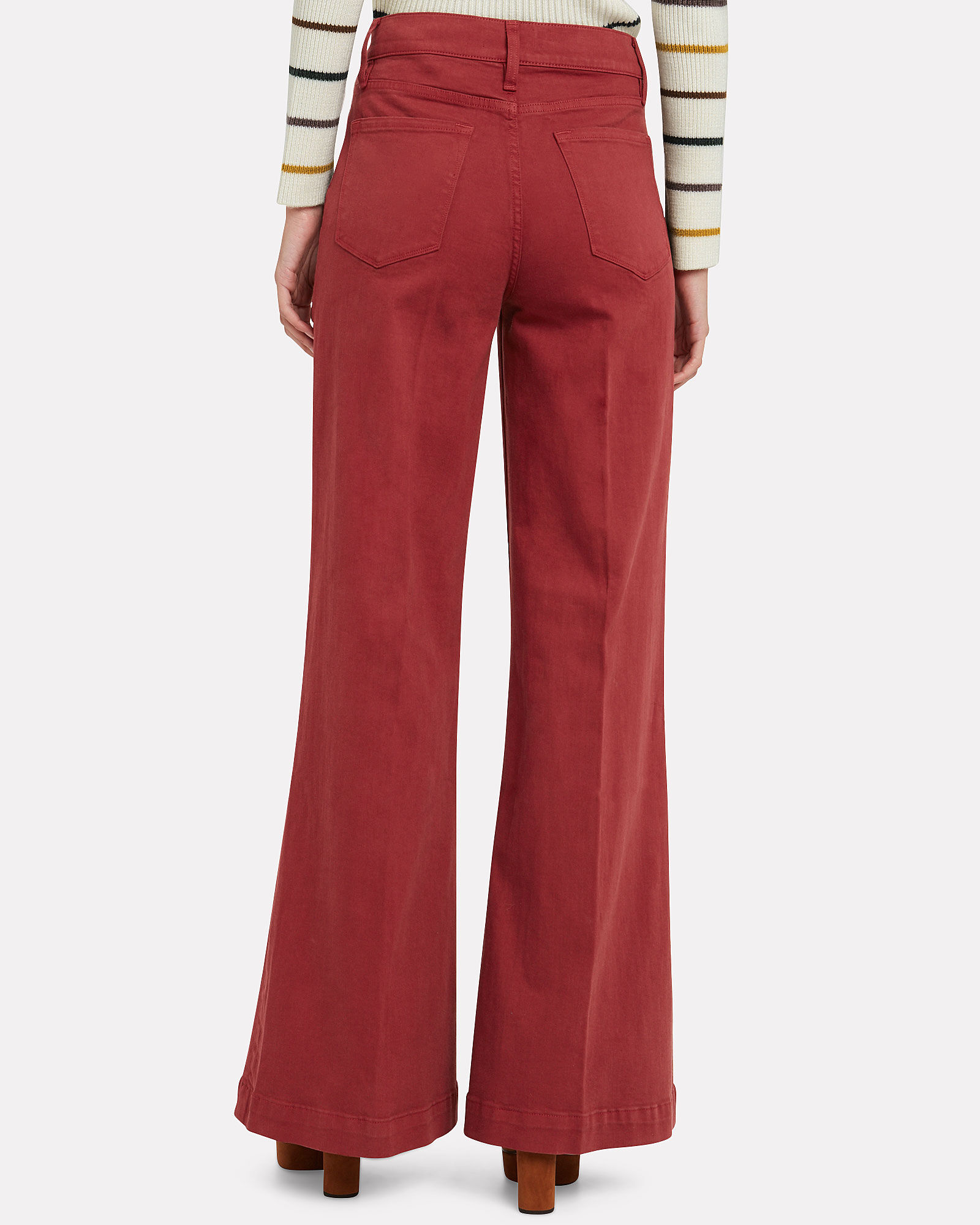 Le Palazzo Wide Leg Jeans, RED-DRK, hi-res
