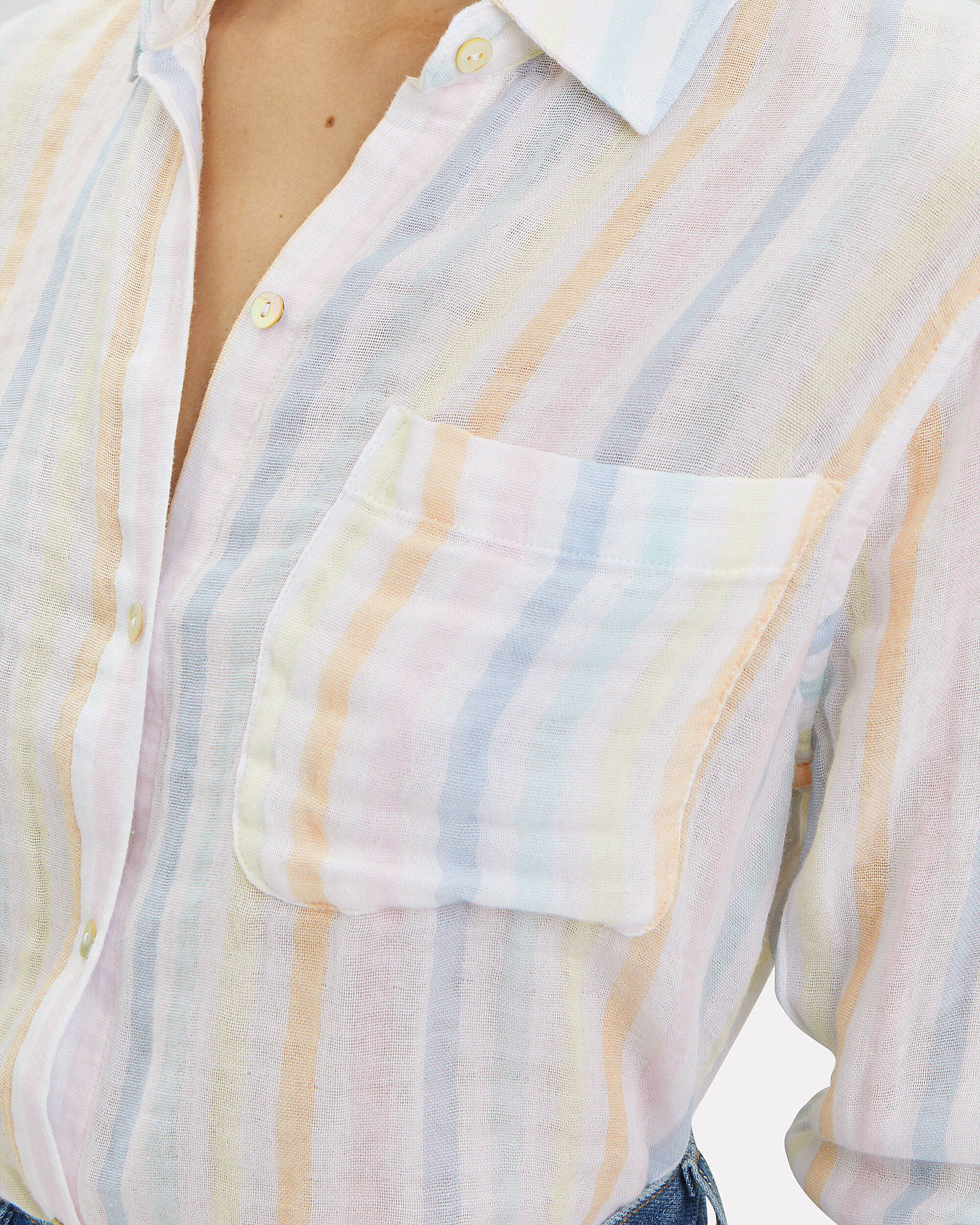 Ellis Button Down Shirt, PASTEL STRIPE, hi-res