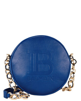 Disco Studded Circle Crossbody Bag, COBALT BLUE, hi-res