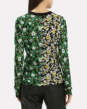 Wildflower Jacquard Knit Top, MULTI, hi-res