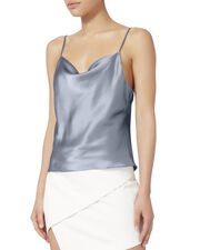 Sky Blue Silk Cami, BLUE-LT, hi-res