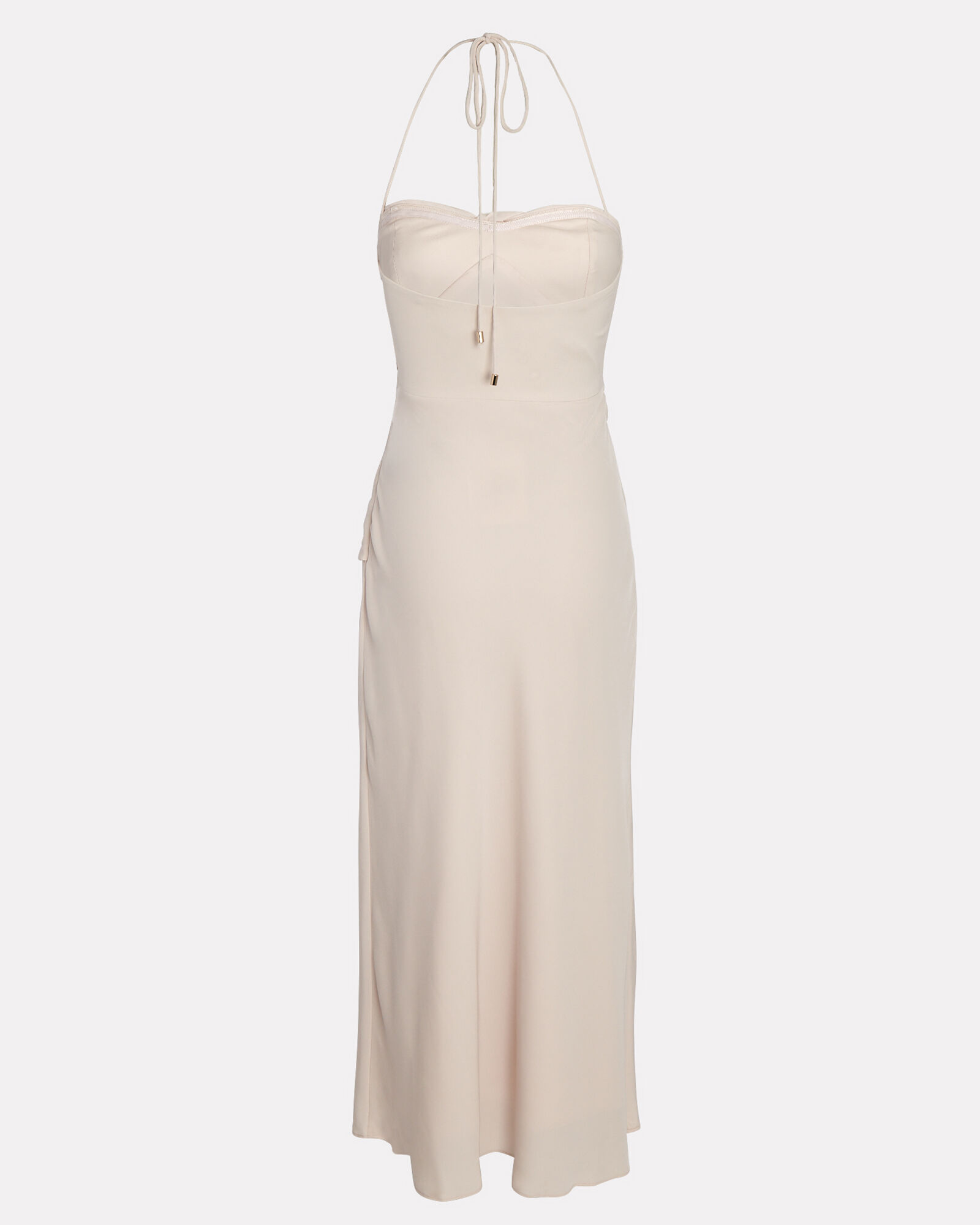 Parlour Tie-Front Midi Dress, IVORY, hi-res