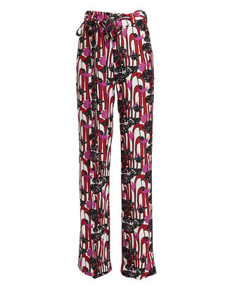 High-Rise Kick Flare Trousers, MULTI, hi-res