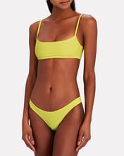Boots Ribbed Bikini Top, YELLOW, hi-res