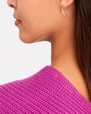Friendship Pearl Safety Pin Earring, GOLD, hi-res