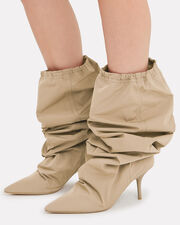 Cinched Top Track Style Boots, BROWN, hi-res