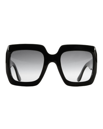Oversized Square Sunglasses, BLACK, hi-res