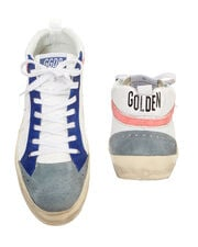 Mid Star Tennis Leather Sneakers, WHITE, hi-res