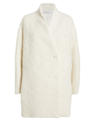 Acicoli Oversized Curly Wool Coat, IVORY, hi-res