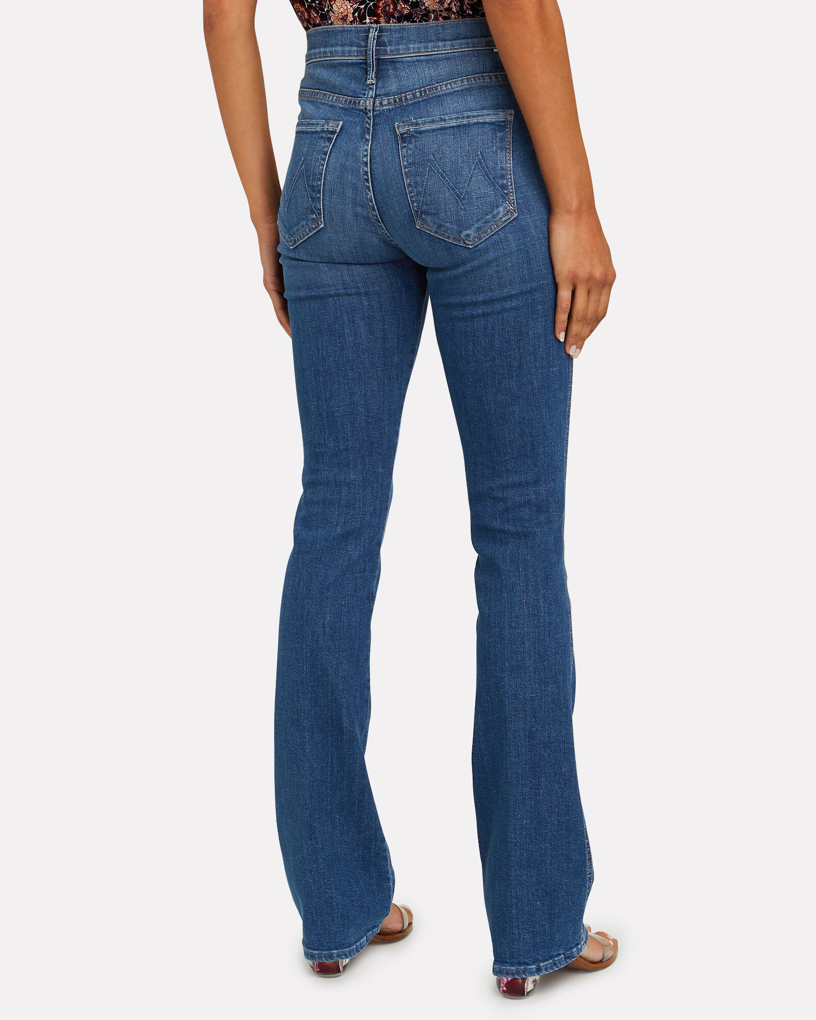 The Double Insider Kick Flare Jeans, Fruit Carts, hi-res