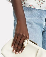 Oval Cocktail Ring, WHITE, hi-res