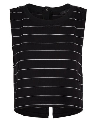 Striped Snap Back Muscle Tank, MULTI, hi-res
