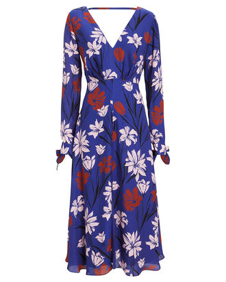 Fleeting Floral Long Sleeve Dress, BLUE/FLORAL, hi-res