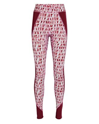 Tisea Tie-Dye Leggings, RED, hi-res