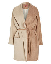Chiba Two-Tone Wrap Coat, MULTI, hi-res