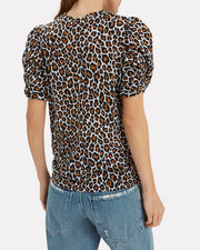 Kati Leopard Puff Sleeve T-Shirt, MULTI, hi-res