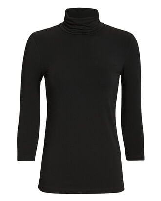 Aja Jersey Turtleneck Top, BLACK, hi-res